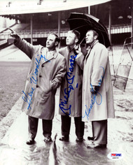 Mickey Mantle, Hank Bauer & Gene Woodling Autographed 8x10 Photo New York Yankees PSA/DNA #AB00191