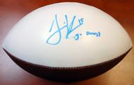 """Jermaine Kearse Autographed Washington Huskies Logo Football """"Go Dawgs"""" MCS Holo #23139"""