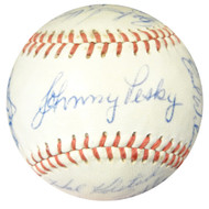 1961 Seattle Rainiers Team Signed Autographed Baseball With 23 Signatures Including Johnny Pesky SKU #102575