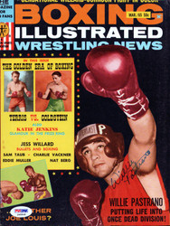Willie Pastrano Autographed Boxing Illustrated Magazine Cover PSA/DNA #S48848
