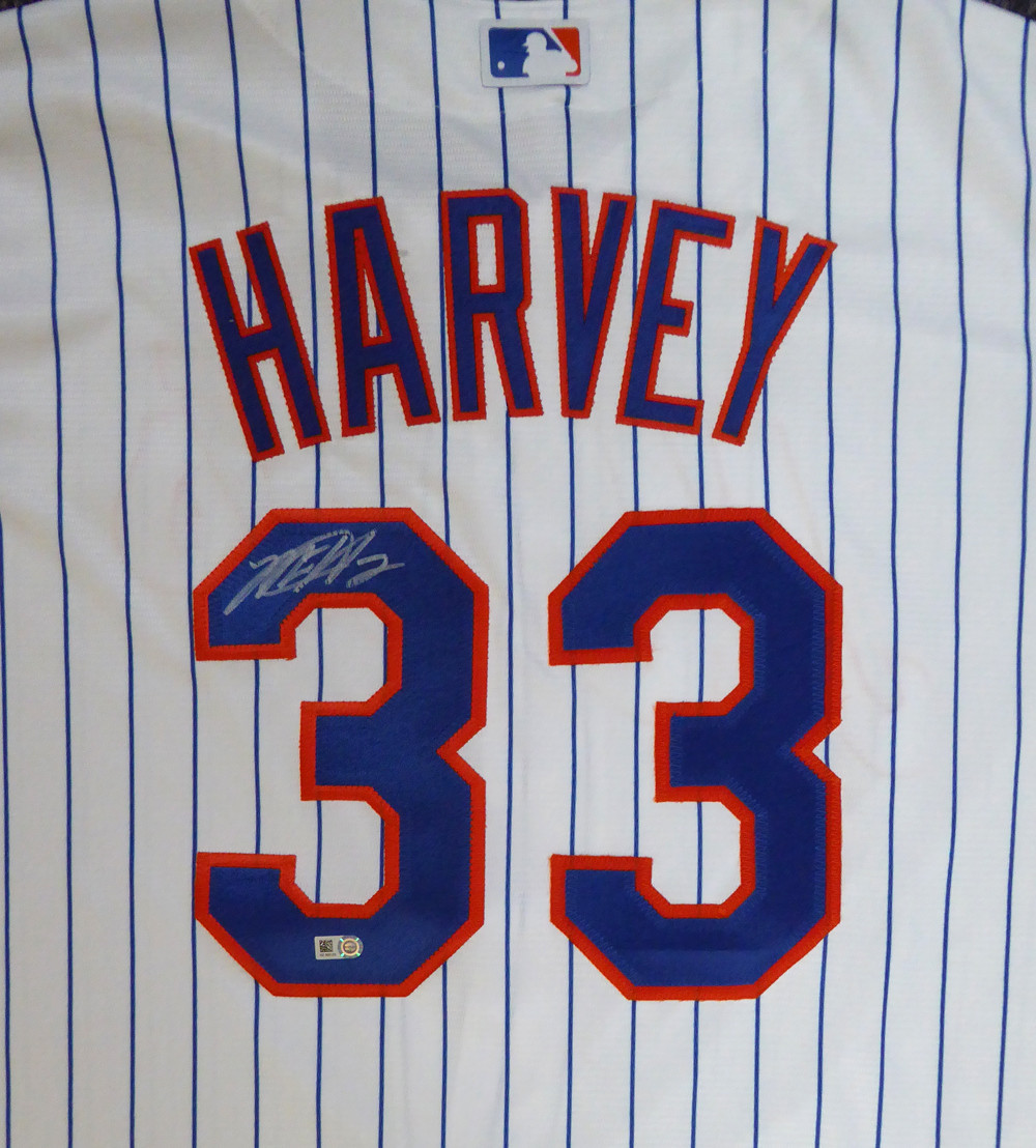 best sneakers 1fab3 4434e New York Mets Matt Harvey Autographed White Majestic Jersey Size XL MLB  Holo #HZ302123