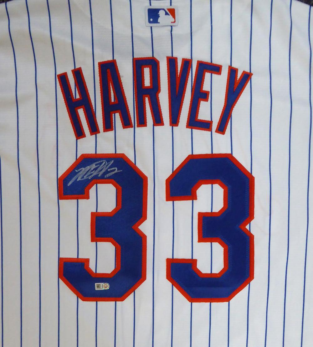 best sneakers 74020 daa5d New York Mets Matt Harvey Autographed White Majestic Jersey Size XL MLB  Holo #HZ302123