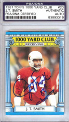 J.T. Smith Autographed 1987 Topps 1000 Yard Club Card #23 St. Louis Cardinals PSA/DNA #83893319