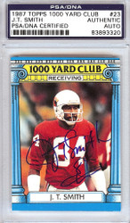 J.T. Smith Autographed 1987 Topps 1000 Yard Club Card #23 St. Louis Cardinals PSA/DNA #83893320