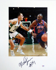 Mark Aguirre Autographed 16x20 Matted Photo Detroit Pistons PSA/DNA #AB51624