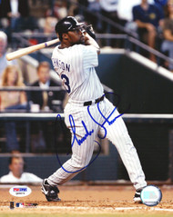 Charles Johnson Autographed 8x10 Photo Colorado Rockies PSA/DNA #Q88876