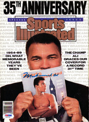 Muhammad Ali Autographed Sports Illustrated Magazine Vintage PSA/DNA #G56338