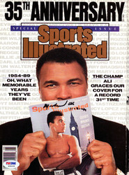 Muhammad Ali Autographed Sports Illustrated Magazine Vintage PSA/DNA #H58638