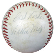 "Willie Mays Autographed Official NL Giles Baseball Giants Vintage 1952-57 Signature ""Best Wishes"" JSA #Y71720"