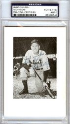 """Red Rolfe Autographed 3.5x5 Photo Detroit Tigers """"To Doug Best Wishes"""" PSA/DNA #83908644"""