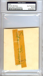 Stan Musial Autographed 3.5x4 Cut Signature St. Louis Cardinals Signed in 1950 PSA/DNA #83908651