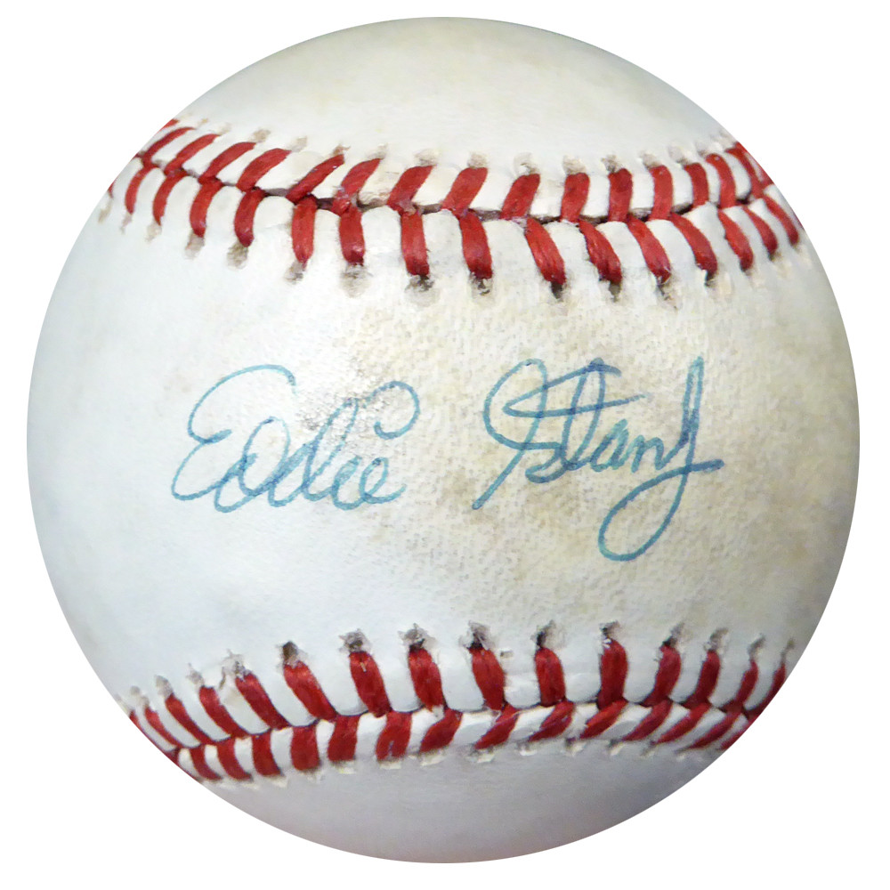 Eddie Stanky Autographed Official Nl Baseball Dodgers Jsa P01703