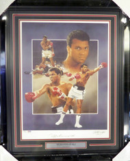 Muhammad Ali Autographed Framed 18x24 Lithograph Photo Auto Grade 10 PSA/DNA #B27067