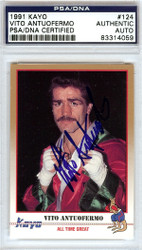 Vito Antuofermo Autographed 1991 Kayo Card #124 PSA/DNA #83314059