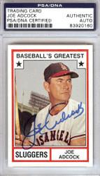 Joe Adcock Autographed 1982 TCMA Card #17 Milwaukee Braves PSA/DNA #83920160