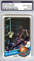 Jim Cleamons Autographed 1979 Topps Card #112 New York Knicks PSA/DNA #83921038