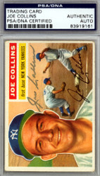 Joe Collins Autographed 1956 Topps Card #21 New York Yankees PSA/DNA #83919161