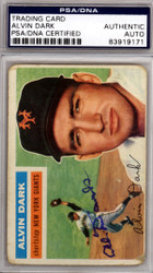 Alvin Dark Autographed 1956 Topps Card #148 New York Giants PSA/DNA #83919171