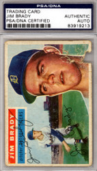 Jim Brady Autographed 1956 Topps Card #126 Detroit Tigers PSA/DNA #83919213