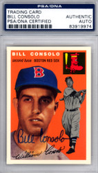 Bill Consolo Autographed 1994 1954 Topps Archives Reprint Card #195 Boston Red Sox PSA/DNA #83919974