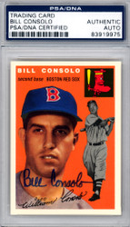 Bill Consolo Autographed 1994 1954 Topps Archives Reprint Card #195 Boston Red Sox PSA/DNA #83919975