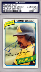 Fernando Gonzalez Autographed 1980 Topps Card #171 San Diego Padres PSA/DNA #83920126