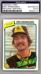 Eric Rasmussen Autographed 1980 Topps Card #531 San Diego Padres PSA/DNA #83920141