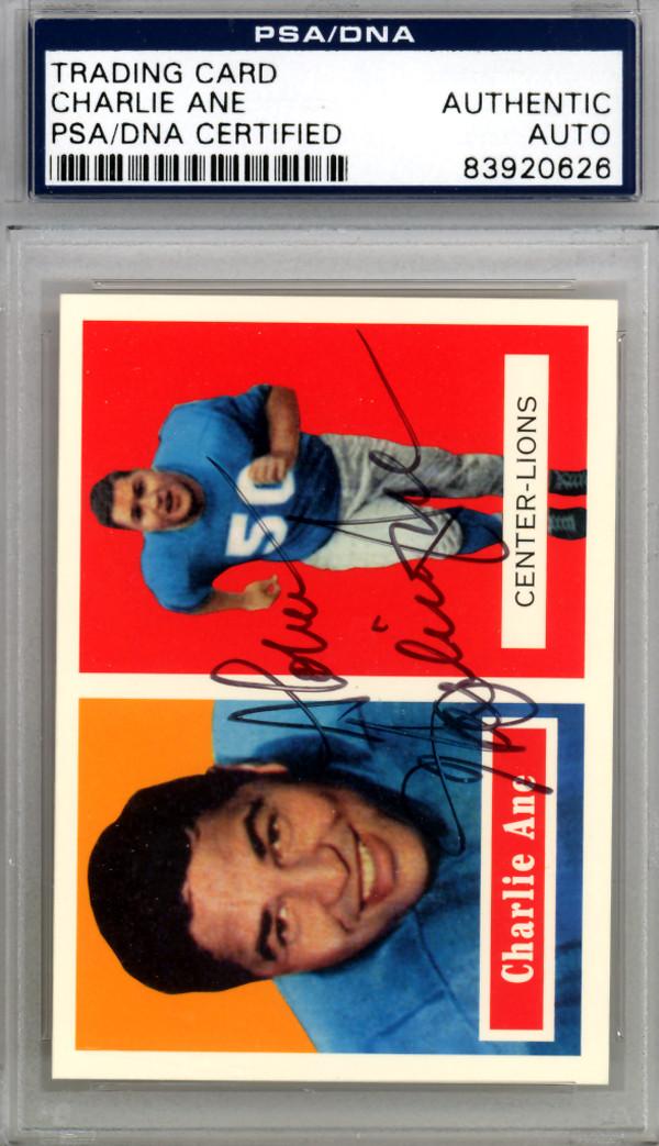 Charlie Ane Autographed 1994 Topps Archives Card #56 Detroit Lions PSA/DNA  #83920626