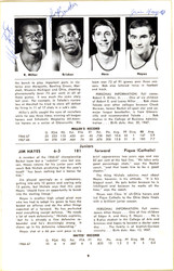1968-1969 University of Toledo Autographed Press Guide With 15 Total Signatures Including John Brisker & Steve Mix PSA/DNA #AB06816