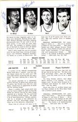 1968-1969 University of Toledo Autographed Press Guide With 15 Total Signatures Including John Brisker & Steve Mix PSA/DNA #AB06816