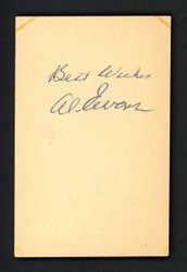 "Al Evans Autographed 2.5x4 Cut Signature Boston Red Sox ""Best Wishes"" JSA #G18333"