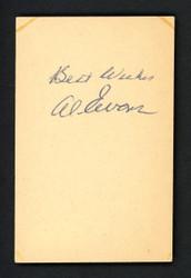 "Al Evans Autographed 2.5x4 Cut Signature Boston Red Sox ""Best Wishes"" JSA #G18333"