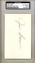 Jim Bill Dunn Autographed 3x5 Index Card Pittsburgh Pirates PSA/DNA #83935962