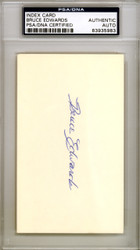 Bruce Edwards Autographed 3x5 Index Card Brooklyn Dodgers PSA/DNA #83935983
