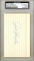 Julio Gonzalez Autographed 3x5 Index Card St. Louis Cardinals PSA/DNA #83936004