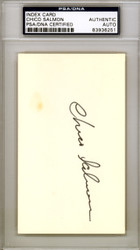 Chico Salmon Autographed 3x5 Index Card Baltimore Orioles PSA/DNA #83936251