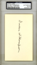 Fuller Thompson Autographed 3x5 Index Card New York Giants PSA/DNA #83936307