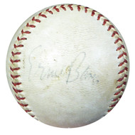 Ernie Banks Autographed Official National League Game Used Baseball Cubs Vintage Signature PSA/DNA #AC00443