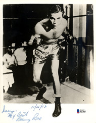 """Barney Ross Autographed 8x10 Photo """"To Larry"""" Beckett BAS #B27861"""