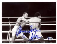 "Thomas ""Hitman"" Hearns Autographed 7x9 Photo Vintage Beckett BAS #B27893"