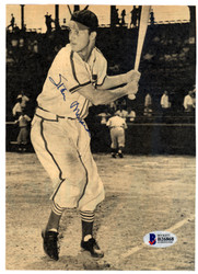 Stan Musial Autographed 5.5x8 Magazine Page Photo St. Louis Cardinals Vintage Beckett BAS #B26868