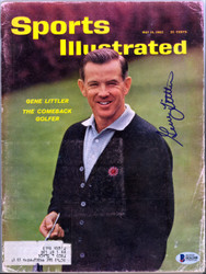 Gene Littler Autographed Sports Illustrated Magazine Beckett BAS #B26288