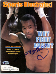 Sugar Ray Leonard Autographed Sports Illustrated Magazine Beckett BAS #B26279