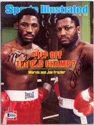 Joe & Marvis Frazier Autographed Sports Illustrated Magazine Beckett BAS #B26285
