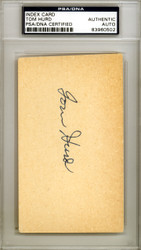 Tom Hurd Autographed 3x5 Index Card Boston Red Sox PSA/DNA #83960502