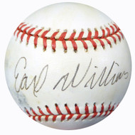 Earl Williams Autographed Official AL Baseball Braves, Orioles Beckett BAS #B26645