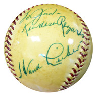 """Hank Lieber Autographed Official NL Giles Baseball New York Giants """"To Jim"""" Beckett BAS #B26653"""