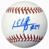 Roenis Elias Autographed Official MLB Baseball Boston Red Sox MCS Holo #43046