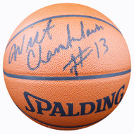 Wilt Chamberlain Autographed Official Spalding Leather Basketball Los Angeles Lakers Beckett BAS #A02267