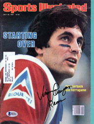 Vince Ferragamo Autographed Sports Illustrated Magazine Los Angeles Rams Beckett BAS #B61011